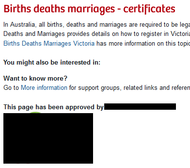 Under the main 'Births deaths marriages' heading is a heading 'You might also be interested in:' which has no content. It is directly followed by the heading 'Want to know more'